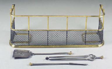 A BRASS AND WIREWORK FENDER