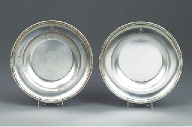 A PAIR OF GEORGE V SILVER SOUP