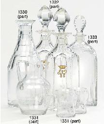A PAIR OF ENGLISH CUT-GLASS AN
