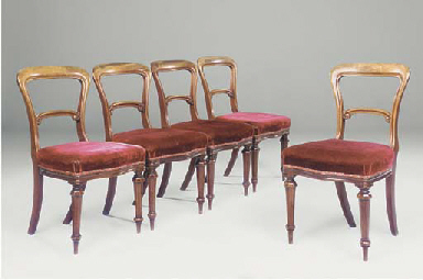 A SET OF FIVE MID-VICTORIAN MA