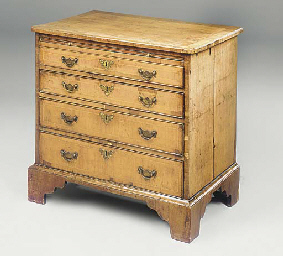 A GEORGE II WALNUT CHEST