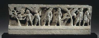 A Gray Schist Relief Panel