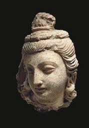 A Small Stucco Head of a Bodhi