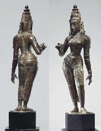 A Large Bronze Figure of Parva