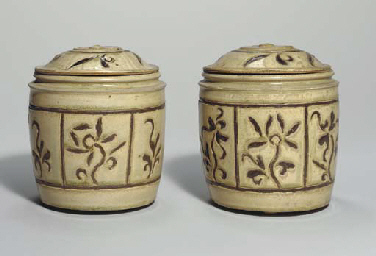 A Pair of Covered Jars