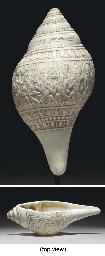 A Rare Conch Libation Cup, San