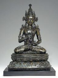 A Large Bronze Figure of Vajra