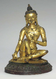 A Gilt Bronze Figure of Mahasi