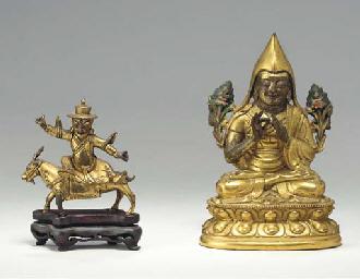 A Gilt Bronze Figure of Tsongk