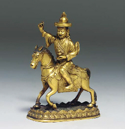 A Gilt Bronze Figure of Dharma