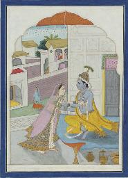 Krishna and Radha Embracing