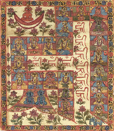 A Jain Painting on Cloth