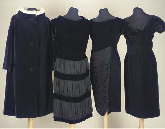 A cocktail dress of black velv
