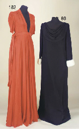 A full-length evening gown of