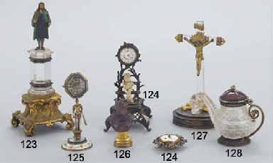 A FRENCH SILVER MOUNTED CLOCK