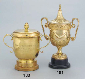A GEORGE V SILVER-GILT CUP AND
