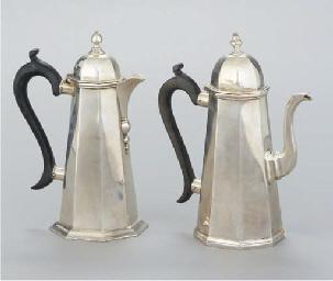 A LATE VICTORIAN SILVER COFFEE