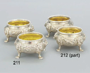 A SET OF FOUR GEORGE V SILVER