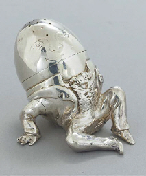 A VICTORIAN SILVER NOVELTY PEP