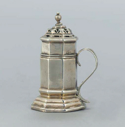 A GEORGE I SILVER PEPPERETTE
