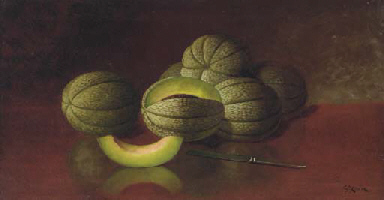 Still Life with Melons and Kni