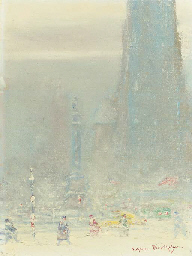 Columbus Circle in Winter
