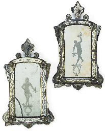 A Pair of Venetian etched and