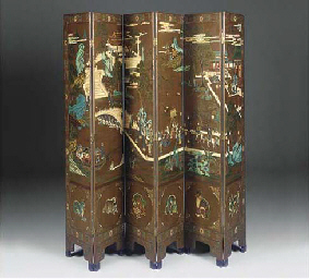 A CHINESE POLYCHROME DECORATED