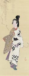 Geisha in festival costume