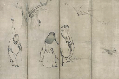 Chinese poets and an attendant