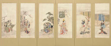 Six scenes from famous kabuki