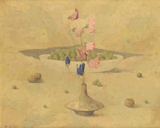 Still life with poppies and fr
