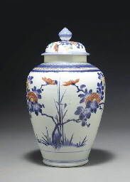 A Porcelain Jar and Cover