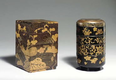 Two Four-Tier Stacking Lacquer