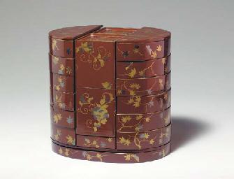 A Lacquer Lunch Box (Kumibako