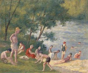 La baignade à Méricourt