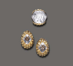 A SET OF ROCK CRYSTAL AND GOLD