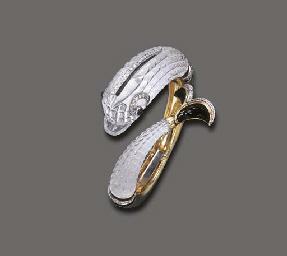 A ROCK CRYSTAL, DIAMOND AND EN