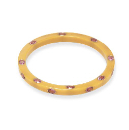 A PINK SAPPHIRE AND BAKELITE B