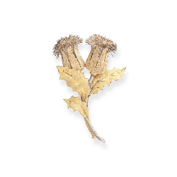 A MULTI-COLORED GOLD BROOCH, B
