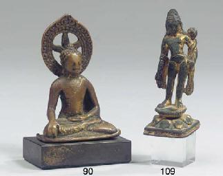 a srivijaya gilt bronze figure