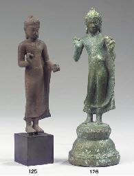a dvaravati bronze figure of b