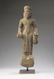 a pre-angkor sandstone figure