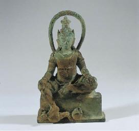 a large javanese bronze figure