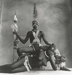 Seated Warrior, Reclining Girl