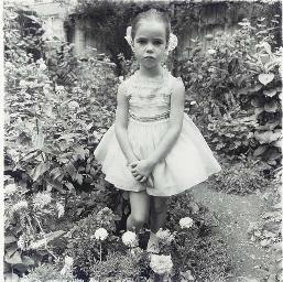 Girl in a Party Dress, N.Y.C.,