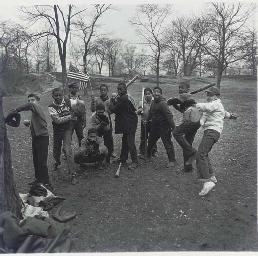 Baseball Game in Central Park,