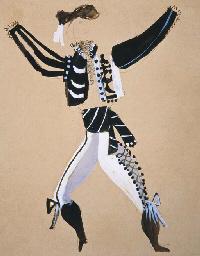 Maquette de costume pour balla