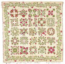 A PIECED, APPLIQUED AND EMBROI
