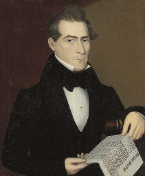 Portrait of a Man Holding the